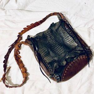 ✨VINTAGE✨ Crocodile Leather Bag
